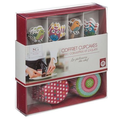 Zestaw do dekorowania muffinek, mini-babeczki, 48 elementów - ptaszki marki Atmosphera créateur d'intérieur