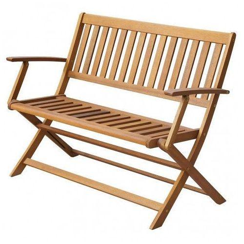 Drewniana ławka ogrodowa rast - brązowa marki Producent: elior