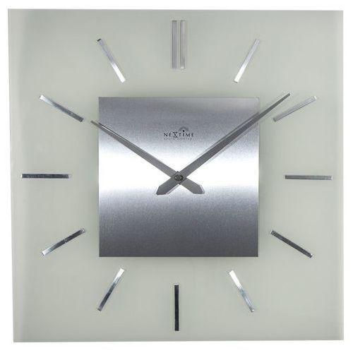 NeXtime - Zegar ścienny Stripe Square Radio Controlled