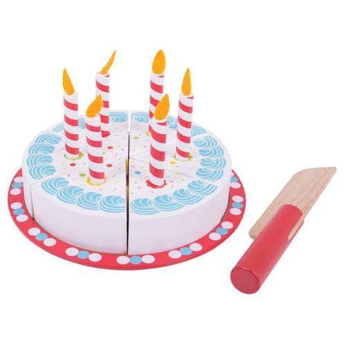 Bigjigs toys Tort urodzinowy do zabawy dla dzieci, bigjigs