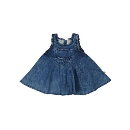 Kanz Steiff girls mini sukienka dżinsowa light blue denim