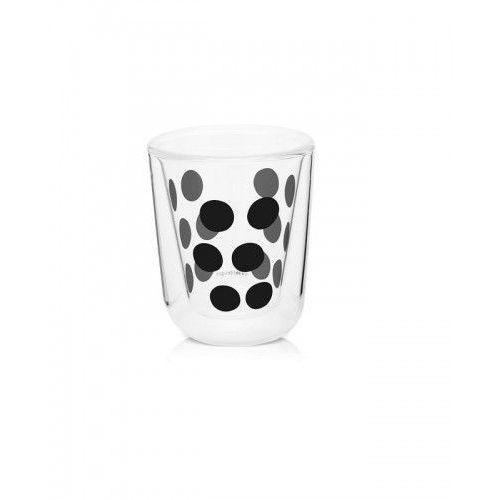 Szklanka z podwójną ścianką 75 ml czarna Zak! Design