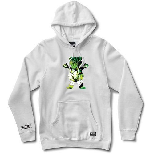 Bluza - grizzly x hulk pull over white (white) rozmiar: s marki Grizzly