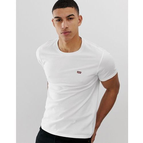Levi's small batwing patch logo t-shirt in white - White, kolor biały