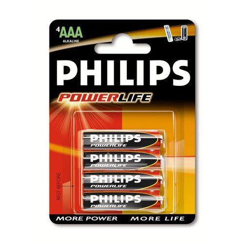Philips PowerLife Bateria alkaliczna LR03PB4C/10