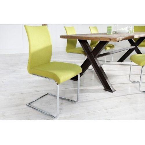 King home Krzesło wiggle limonkowe (4250243543208)