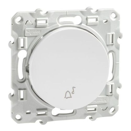 """Przycisk podtynkowy """"dzwonek"""" Schneider Odace S520246 biały (3606480318115)"""