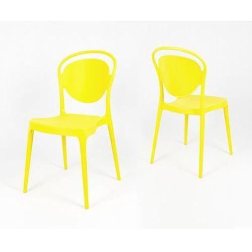Sk design kr055 żółte krzesło polipropylenowe - żółty