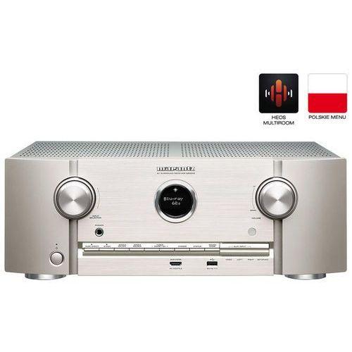 MARANTZ SR5013 SREBRNO-ZŁOTY - amplituner AV o mocy 180W | HEOS | Dolby Atmos | sterowanie głosowe Amazon Alexa | Gwarancja 3-lata