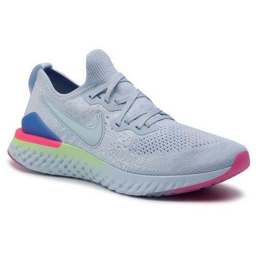 Nike Buty - epic react flykint 2 bq8928 453 hydrogen blue/hydrogen blue/