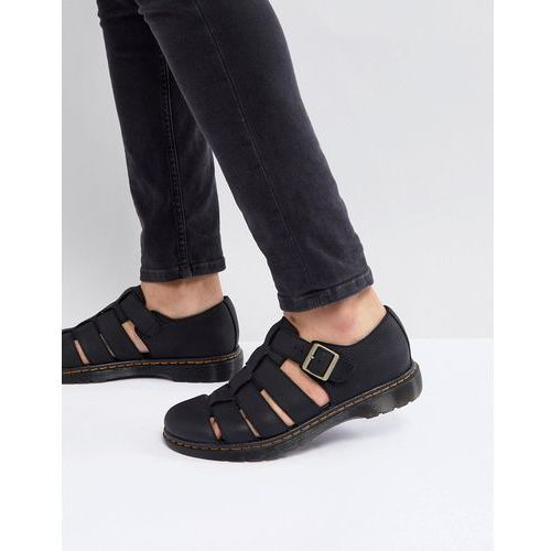 Dr Martens Revive Fenton Closed Sandals In Black - Black
