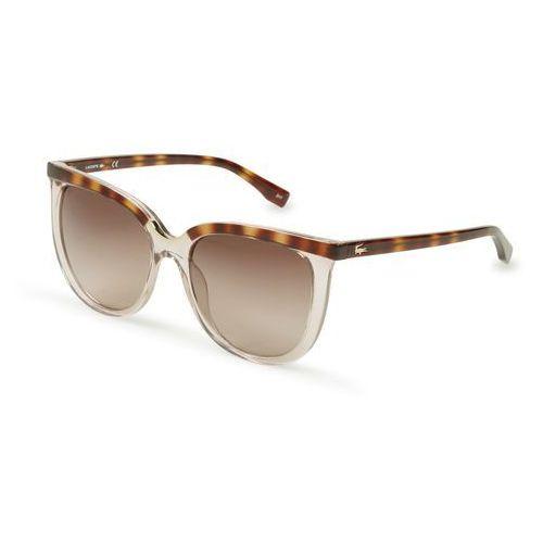 Okulary przeciwsłoneczne damskie l825s brązowe marki Lacoste
