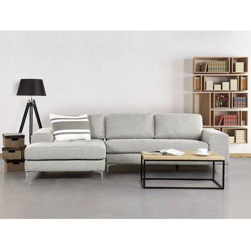 OKAZJA - Sofa jasnoszara - sofa narożna - tapicerowana - KIRUNA, kolor szary