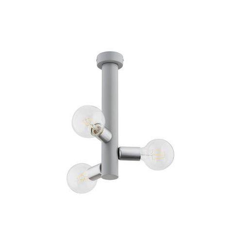Lemir Foco O2823 W3 SZA plafon lampa sufitowa żyrandol 3x60W E27 szary mat / nikiel