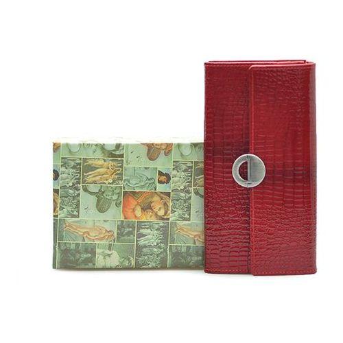 Portfel damski Barberini's 659 Czerwony lakier
