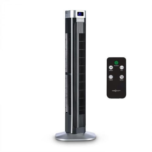 OneConcept Hightower 2G Wentylator kolumnowy stojący 50 W timer kolor czarny