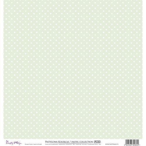 Ozdobny papier 30,5x30,5 cm - zielony - ziel marki Crafty moly