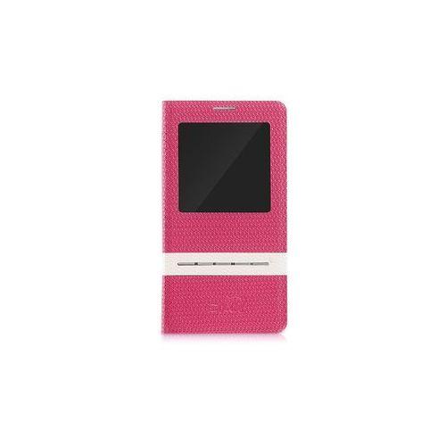 #Etui tel.kom.eXc CROCO FIT do Samsung Note 3, różowe, kolor różowy