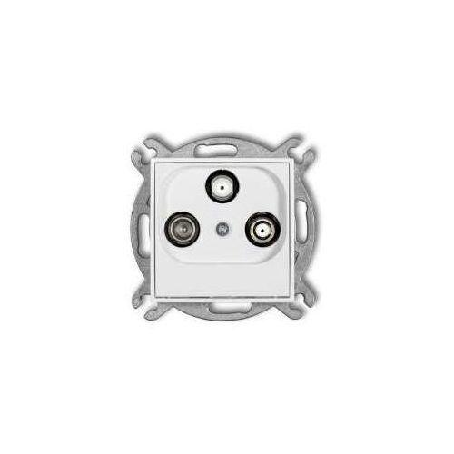 Gniazdo TV-2xSAT Karlik Mini MGSN końcowe biały (5903268584457)