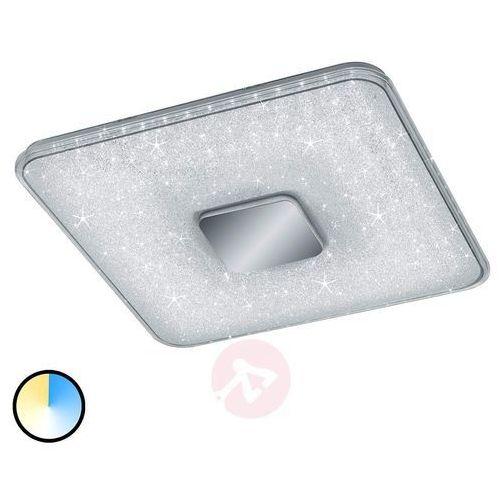 Plafon LAMPA sufitowa AKURA 628890100 Trio kwadratowa OPRAWA natynkowa LED 45W z efektem gwiazd biała, 628890100