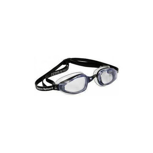Męskie okulary pływackie k180 clear černé/transparentní marki Michael phelps aqua sphere