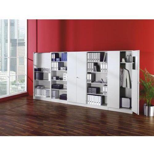 Hammerbacher Fino - regał biurowy, 2 półki, szer. 800 mm, biały. płyty wiórowe pokryte melami