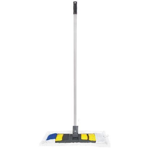 Mop płaski z mikrofibry kieszeniowy 40 cm - komplet (uchwyt,mop,kij) Mop do paneli