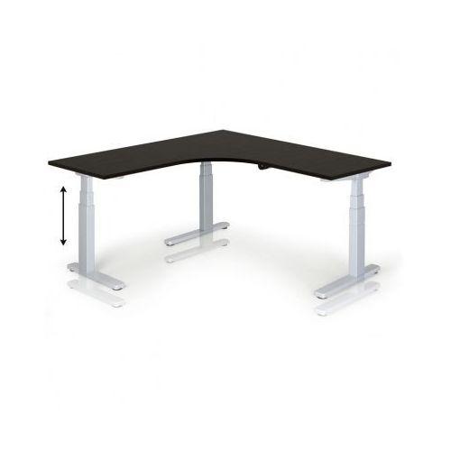 Stół z regulacją wysokości, 675-1275 mm, ręczny, 1600 x 1600 mm, wenge