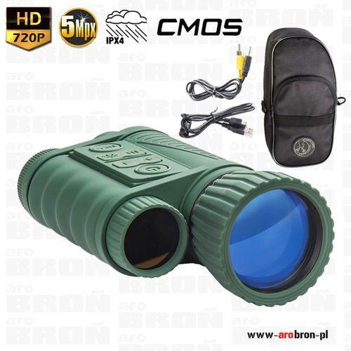 Noktowizor cyfrowy dziennonocny nighthunter nh-1 6x50 - hd 720p, ipx4, zasięg do 350m marki -