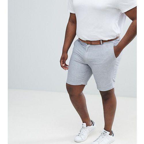 big & tall oxford short with belt in grey - grey, Burton menswear