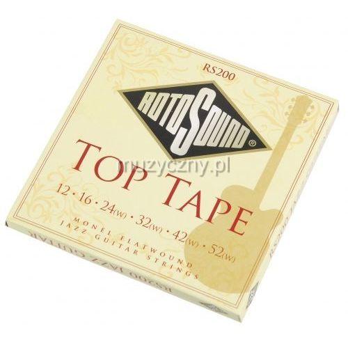 Rotosound rs-200top tape flatwound struny do gitary elektrycznej 12-52