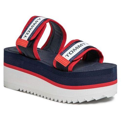 Sandały - chunky tape flatform sandal en0en00871 twilight navy c87 marki Tommy jeans
