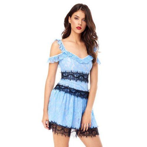 Sukienka resia w kolorze błękitnym marki Sugarfree