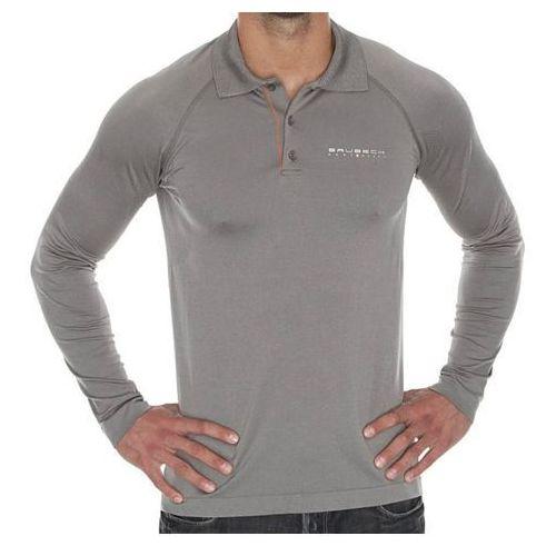Koszulka męska polo PRESTIGE z długim rękawem szara LS10620 z kategorii Bielizna sportowa męska