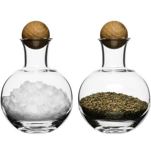 Buteleczki na przyprawy z dębowym korkiem oak 2 sztuki (sf-5016554) marki Sagaform