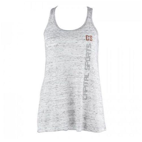 Capital sports koszulka treningowa top damska rozmiar l biały marmurek