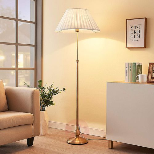 LEILAN – lampa stojąca z abażurem, LED E27 (4251096502350)