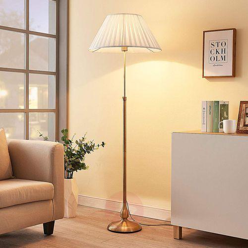 LEILAN – lampa stojąca z abażurem, LED E27