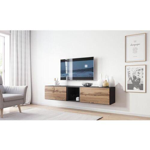 High glossy furniture Nowoczesna szafka rtv rock 10 antracyt mat - wotan mat