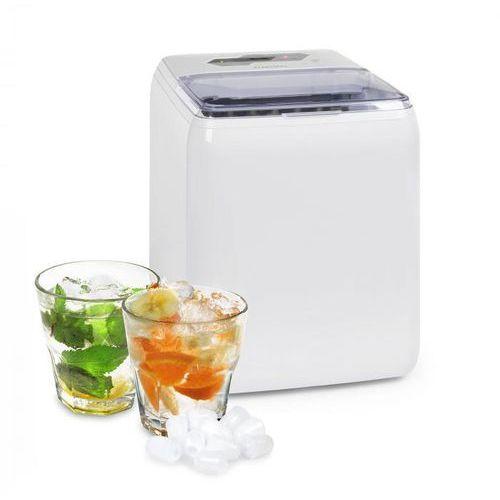 Klarstein coolio, kostkarka do lodu, lód przezroczysty, 20 kg/24 h, zbiornik na wodę: 2,8 l, biały (4060656161643)