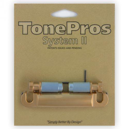 t1z-sg - tailpiece, części mostka do gitary, satynowe złoto marki Tonepros