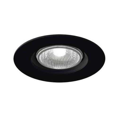 Oczko lampa sufitowa tokio 3329/gu10/cz podtynkowa oprawa ruchoma okrągła wpust czarny marki Shilo