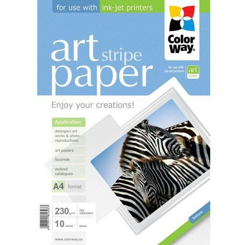 ARSEJ Papier Fotograficzny ColorWay Błyszczący Zebra