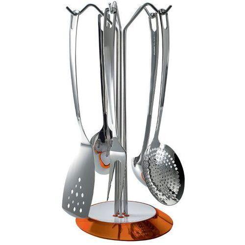 - glamour - zestaw 5 przyborów na stojaku pomarańczowym - pomarańczowy marki Casa bugatti