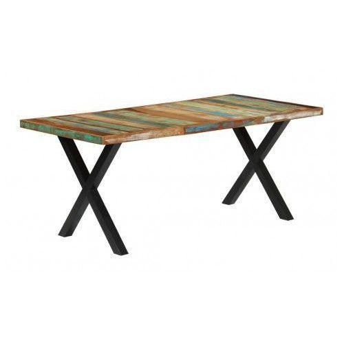 Stół z litego drewna Mirun – wielokolorowy, vidaxl_283782