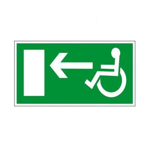 Kierunek drogi ewakuacyjnej dla niepełnosprawnych w lewo marki B2b partner