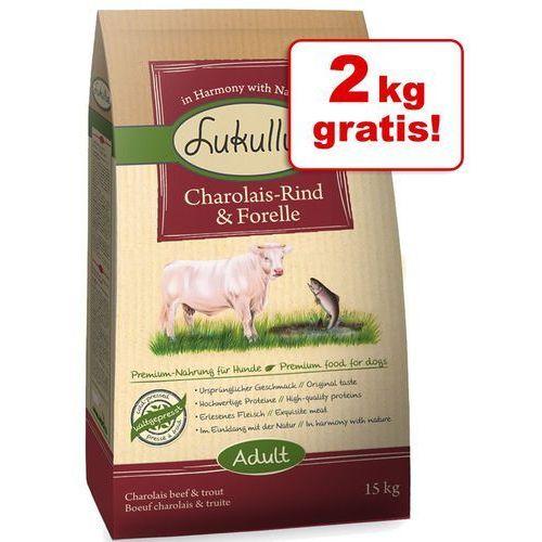 13 + 2 kg gratis! Lukullus, 15 kg - Kaczka piżmowa i jagnięcina