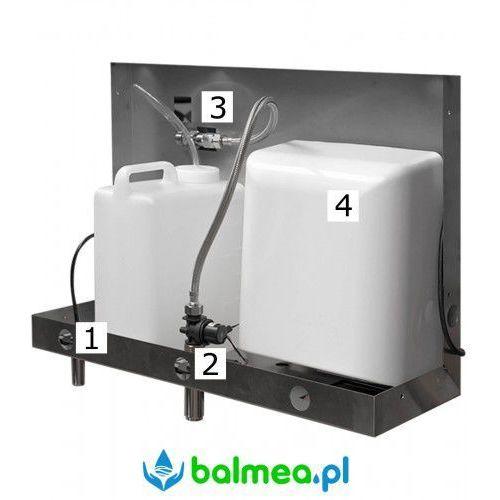 Zalustrowy dozownik mydła suszarka do rąk i bateria termostatyczna, PS0001