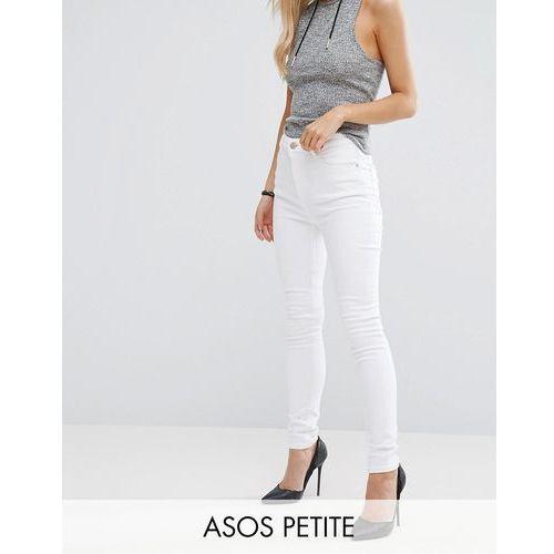 ridley high waist skinny jeans in optic white - white marki Asos petite