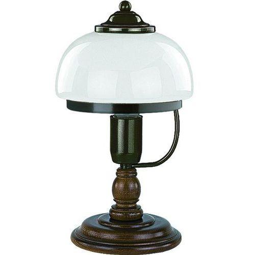 Lampa stołowa parma 16948 lampka 1x60w e27 patyna/drewno marki Alfa